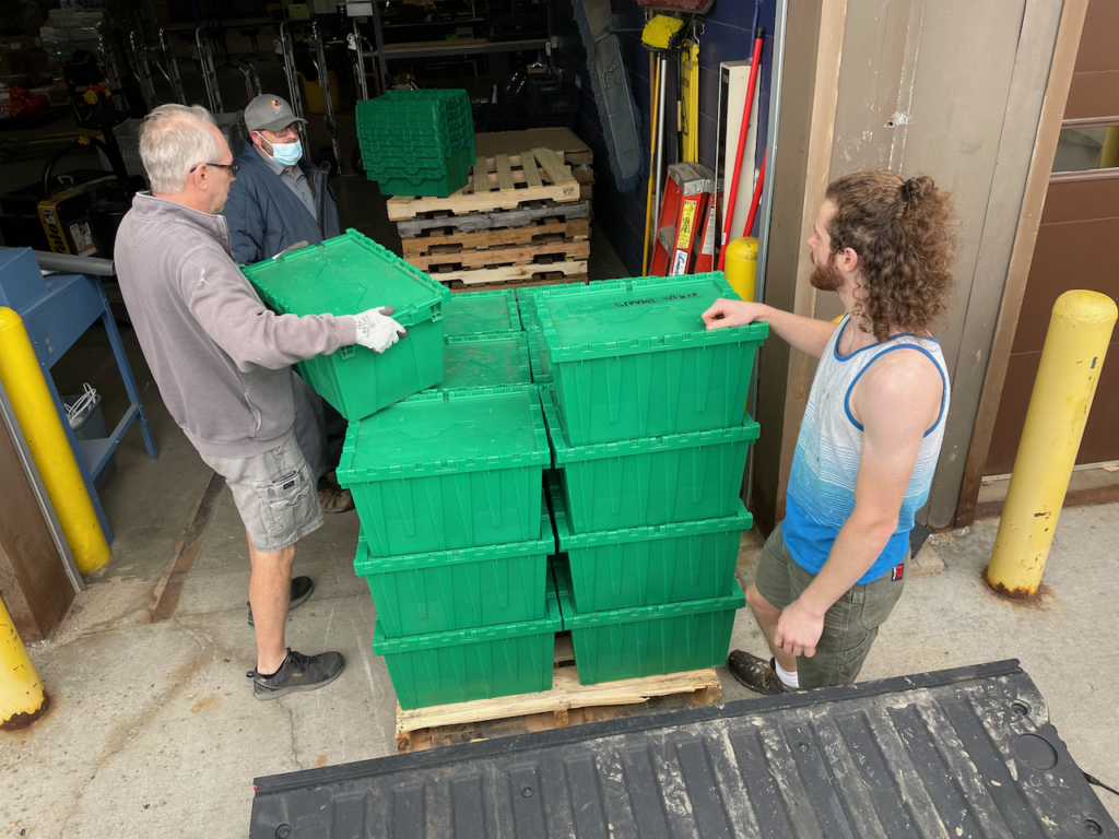 Showing beets being delivered to The Food Group