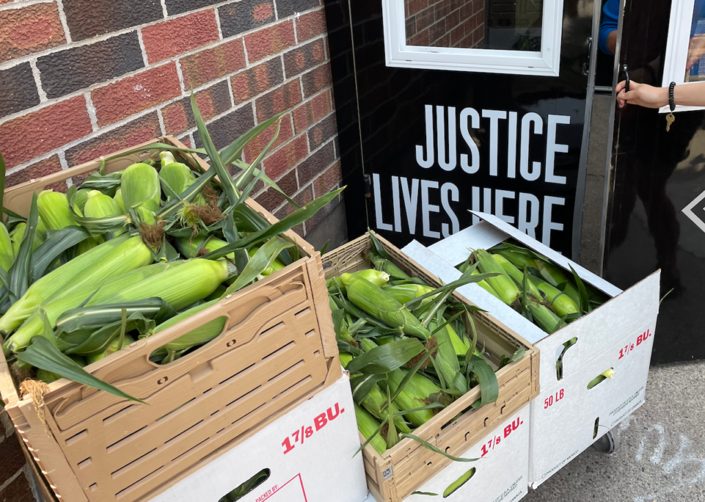 Sweet Corn being delivered to Pillsbury United Communities