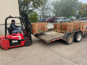 Offloading Squash Delivery #1