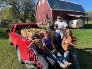 Sunday squash harvest group photo