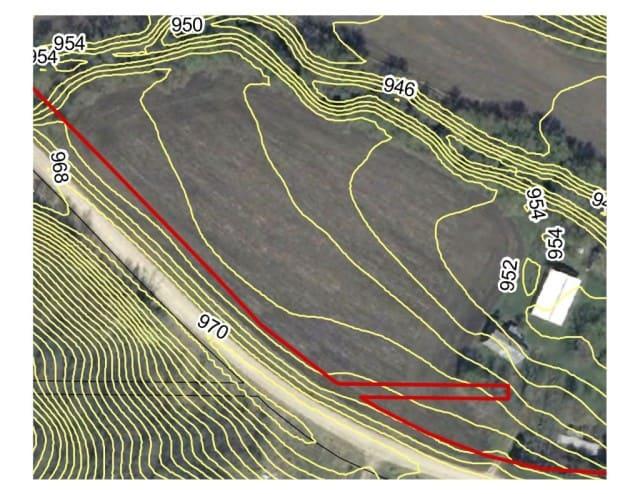 field contour map