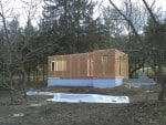 Six walls up and sheathed!